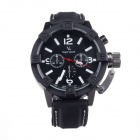 V6 SuperSpeed V0165-B Stylish Men's Quartz Analog Silicone Wrist Watch - Black + White