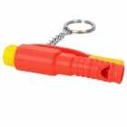 3-in-1 Car Emergency Hammer w/ Key Chain / Whistle - Red