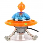 Aquarium Pneumatic Fish Tank Decoration UFO Flying Saucer Pump - Orange + Blue + Silver