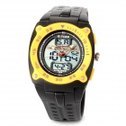 O.tage Rubber Quartz Analog + Digital Wrist Watch for Men - Black + Yellow