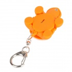 Tortoise Style 2-LED Blue Light Keychain - Orange (3 x AG10)