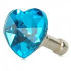 Love Heart Style Rhinestone Audio Anti-Dust Plug for Iphone / Ipad / Cell Phone - Dark Blue (3.5MM)