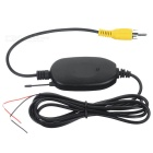 Car 2.4G Wireless Transmitter and Receiver for Rearview Camera - Black