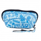 Practical Neoprene + Nylon Cosmetic Medicine Storage Bag - Blue + White + Black