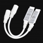 Mini Common Anode Remote Controller w/ DC for RGB Strip - White (2 PCS / 12~24V)