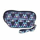 Practical Neoprene + Nylon Cosmetic Medicine Storage Bag - Blue + Black + Purple + White