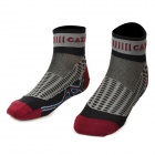 Mens' Accelerate Dry Anti-bacteria Sweat-absorbent Socks - Purplish Red + Grey + Black (Pair)