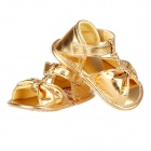 Cute Bowknot Baby Sandals - Golden (Pair / 6-9 Months)