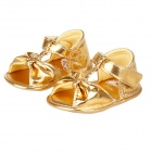 Cute Bowknot Baby Sandals - Golden (Pair / 3-6 Months)
