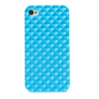 Square Style Protective Plastic Back Case for Iphone 4 / Iphone 4S - Blue