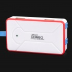 GS101 Multi-Function MicroSD / TF / SD / MS / M2 Card Reader + 4-Port USB 2.0 Hub + Data Cable Set