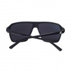 Fashion UV400 Protection PC Frame Resin Lens Sunglasses - Black + Silver Grey