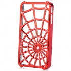 Stylish Crystal-inlaid Cobweb Skeleton Pattern Protective Plastic Back Case for Iphone 4 / 4S - Red