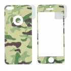 ITOP Camouflage Style Decorative Protective Frosted Front + Back Sticker Film for Iphone 5 - Green