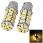 11571210-68WN 4.5W 250lm 68-SMD 3528 LED Warm White Light Car Steering Lamps - (12V / 2 PCS)