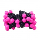 50-LED Red Light Balls Holiday Decoration String - Deep Pink + Black (EU Plug / 500cm)