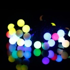 50-LED Multi-color Light Balls Holiday Decoration String - White (5M)