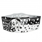 SW-01 Portable Foldable PVC Dog Pet Water Bowl - Black + White