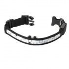 Adjustable 3-Mode White Light 1-LED Nylon Pet Safety Collar - White + Black (Size-M / 2 x CR2032)