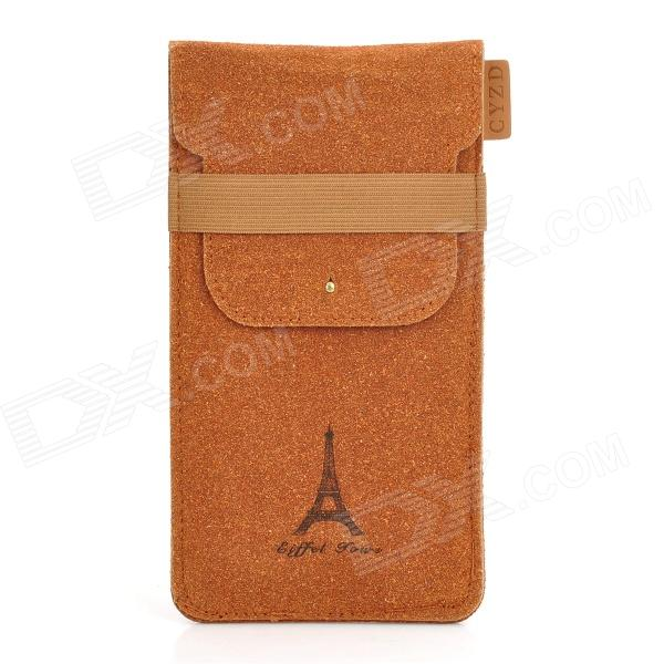 Universal Eiffel Tower Pattern Protective Pu Leather Bag