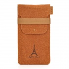 Universal Eiffel Tower Pattern Protective PU Leather Bag for Sony Game Console - Brown