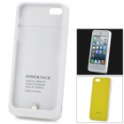 2600mAh Rechargeable External Backup Battery Case w/ Micro USB Cable for iPhone 5 - Yellow