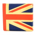 The UK Flag Pattern Canvas Wallet - Red + Blue + Yellow