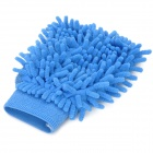 Chenille Fiber Car Washing Glove / Cleaning Cloth - Blue