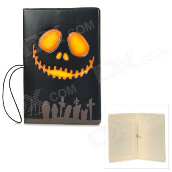 PVC Halloween Grimace Pattern Passport Holder - Black + Yellow