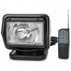 55W 4300lm 6000K White Light Car HID Search Lamp w/ Remote Control Kit - Black (12V)