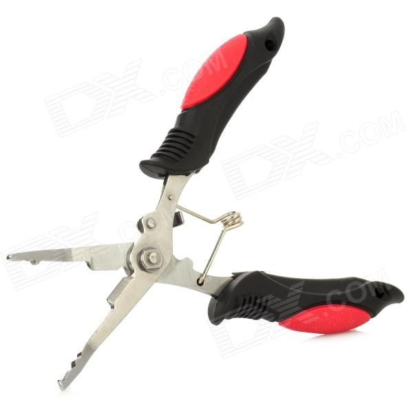 Multifunction Stainless Steel Fishing Pliers - Black + Red