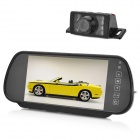 Car 7' LCD Rearview Monitor + Waterproof CMOS Camera w/ 7-LED Night Vision - Black
