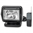 55W 4300lm 6000K White Light Car HID Search Lamp w/ Remote Control Kit - Black (24V)