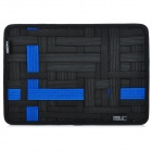 GRID-IT GRID Creative Storage & Sorting Plate w/ Zipper Bag - Black + Blue