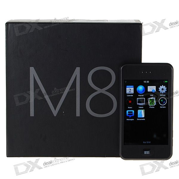 "Meizu M8 3.4"" Touch Screen Windows Mobile Pro Dualband GSM Cell Phone w/WiFi (8GB Internal Storage)"