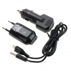 Monie XH-17 AC Power Adapter + Car Charger + USB Male to Micro USB Male Data/Charging Cable - Black