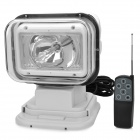 55W 4300lm 6000K White Light Car HID Search Lamp w/ Remote Control Kit - White (12V)