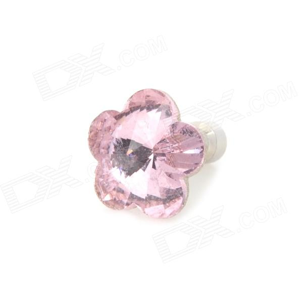 Shiny Plum Blossom Shape Anti-dust Earphone Jack Plug for Iphone / Cellphone - Pink