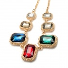 Fashion Artificial Stones Necklace for Women - Multicolored