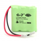 qoop GD-404 3.6V 300mAh Rechargeable Ni-MH 2/3AA Battery for Cordless Phone - Green