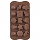 DIY Plastic Butterfly Star Style 15-Cup Chocolate / Ice Tray Mould - Coffee