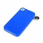 SKINA Stylish 180 Degree Wide Angle + Macro Lens w/ Silicone Back Case for iPhone 4 / 4S - Blue