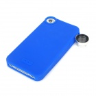 SKINA 180 Degree 2X Fisheye Lens w/ Protective Back Case for iPhone 4 / 4S - Blue