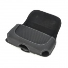 i4-BK-L Protective Leather Waist Belt Bag Case for Iphone 4S / 4 - Black