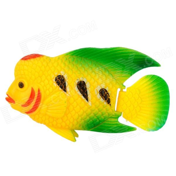 E5YK Aquarium Fish Tank Decoration Plastic Lifelike Cichlasoma