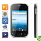 "S5292 Android 4.0 GSM Bar Phone w/ 3.5"" Capacitive Screen, Wi-Fi and Quad-Band - Black"