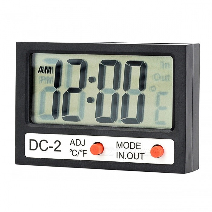"DC-2 2.1"" LCD Digital Thermometer - Black (1 x AG13)"