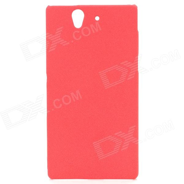 все цены на TEMEI Protective Quicksand PC Back Case for Sony Xperia Z L36h - Deep Pink онлайн