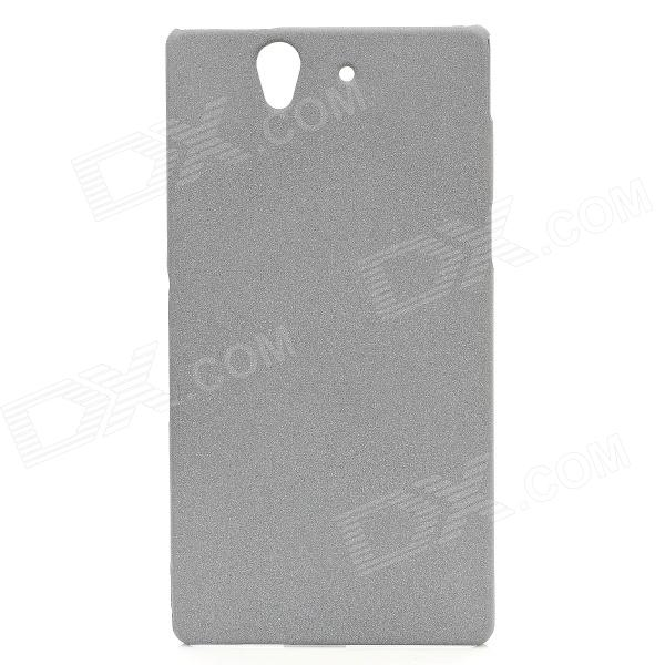 все цены на TEMEI Protective Quicksand PC Back Case for Sony Xperia Z L36h - Grey онлайн