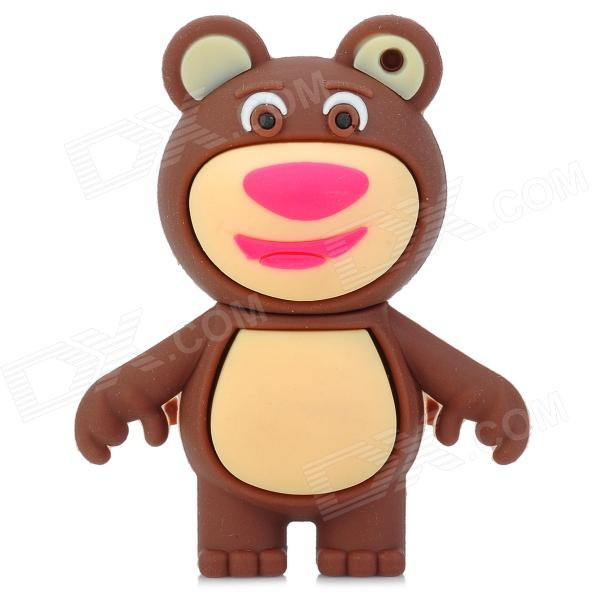 Cartoon Bear Shape USB 2.0 Flash Drive - Brown + Beige (8GB)